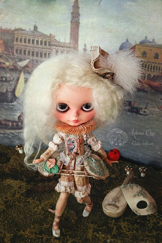 156 (a). Rebeca Cano _ Bianca Venettia The melancholy minstrel (particolare)